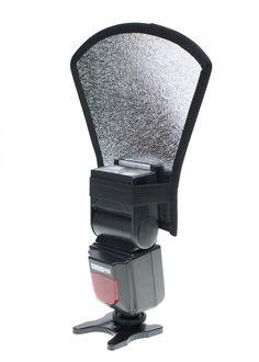 StudioPRO Two Side Flash Diffuser Reflector Silver/White For Speedlite