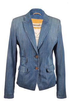 #Drykorn | Lässiger blue-stone-washed #Blazer, Gr. M | Drykorn Blazer | mymint-shop.com | Ihr #OnlineShop für #Secondhand / #Vintage #Designerkleidung & Accessoires bis zu -90% vom Neupreis das ganze Jahr #mymint