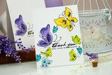 You loved the Pained Flowers set, now you will have a Painted Butterflies set! Created with a similar design style, these are three-step butterflies. They can be used as is, or combined with floral im