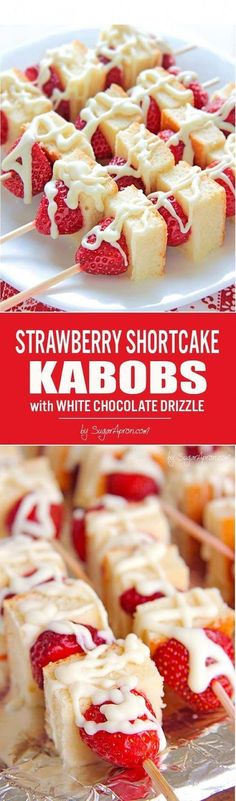 Shortcake Kabobs This strawberry Shortcake kabobs are your ticket to becoming a backyard-barbecue legend.This strawberry Shortcake kabobs are your ticket to becoming a backyard-barbecue legend. Easy Desserts, Delicious Desserts, Dessert Recipes, Yummy Food, Tasty, Recipes Dinner, Easy Sweets, Coctails Recipes, Dishes Recipes