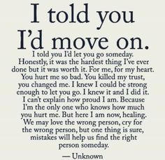 Moving on and finding myself.