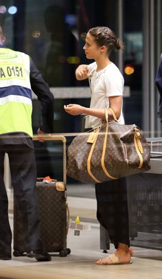 Alicia and LV luggage