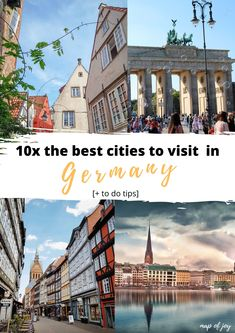 Going to German and want to visit some special cities in Germany? This are the best cities to visit in Germany with lots of Germany city trip tips. North Europe, Cities In Germany, City Break, Best Cities, Outdoor Travel, Travel Tips, Road Trip, Joy, English