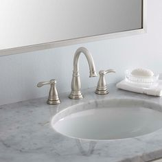 Delta Porter 8 in. Widespread 2-Handle Bathroom Faucet with Metal Drain Assembly in Brushed Nickel $99