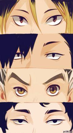 Haikyuu Eyes by Viria  Kenma kozume, Kuroo Tetsurou, Bokuto Koutarou, Akaashi Keiji