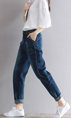 57999df50e3 2017 Top Fashion Women Side Stripes Harem Pants Women Black Casual High  Waist Pants Plus Size Drawstring Trousers Pantalon Femme