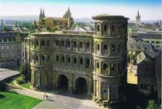 Trier, Germany. This was once the capital of the Roman Empire. It is the oldest city in Germany. In the picture is the Porta Nigra, The Black Gate. It is the only gate left standing in this once walled city.