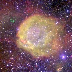Really Hot Stars | This unique image shows AB7, one of the highest excitation nebulae in the Magellanic Clouds (MCs), two satellite galaxies of our own Milky Way. Image credit: ESO