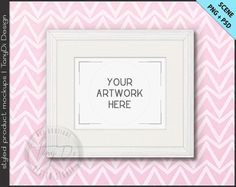 8x10 White Wood Frame on Nursery Baby Blue by TanyDiDesignStudio