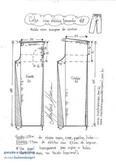 Pants with external pocket, Diy And Crafts, Pants with external pocket Pattern Drafting Tutorials, Easy Sewing Patterns, Clothing Patterns, Sewing Pants, Sewing Clothes, Underwear Pattern, Baby Dress Patterns, Pants Pattern, Sewing Techniques
