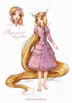 Rapunzel and lolita fashion by Moon-In-Milk.deviantart.com on @DeviantArt