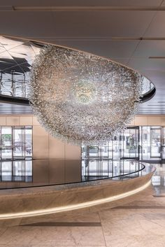 designismymuse: Sculpture In Chicago Made From Over 3000 Hand Blown Glass Orbs Artist: Wolfgang Buttress Lighting Supplier: Universal Fibre OpticsCurator : Susan AurinkoSource: contemporist Photography by Mark Hadden Photography Chandeliers, Chandelier Lighting, Lighting Suppliers, Hand Blown Glass, Lighting Design, Public Art, Sculpture Art, Glass Art, Ceiling Lights