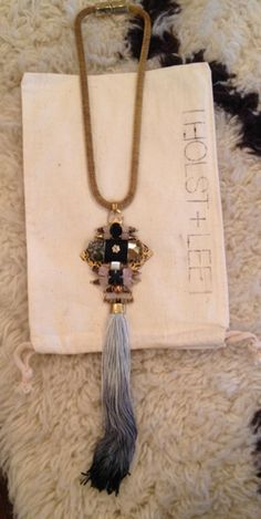 HOLST + LEE agate/tassel necklace