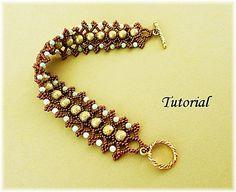 PDF for beadwoven bracelet beading tutorial - beadweaving beaded seed bead jewelry pattern- PISTACHIO