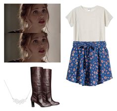 """Lydia Martin - tw / teen wolf"" by shadyannon ❤ liked on Polyvore featuring Monki, A Weathered Penny and H&M"