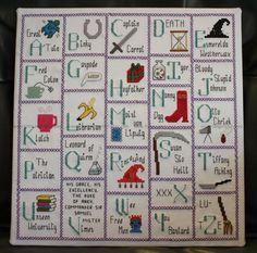Discworld alphabet quilt