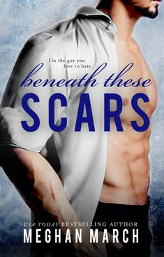 Beneath These Scars (Beneath, #4) by Meghan March - I LOVED this book!  Lucas Titan has something to prove and becomes interested in the sassy Yve Santos. But Yve is fiercely independent and will never be dominated by a man again. What will happen when her ex is released from prison?  And what will happen if Lucas decides he wants to keep her?