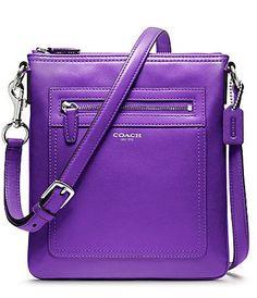 Love this purple Coach crossbody