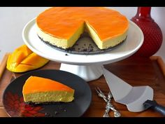 No Bake Mango Cheesecake Recipe | No Eggs No Gelatin - YouTube