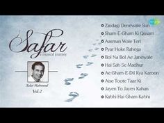 """Talat Mahmood was a popular Indian playback singer and film actor. We present """"Safar - A Musical Journey"""", a collection of songs of him, for you. Lata Mangeshkar Songs, Acne Remedies, Best Songs, Jukebox, Wales, Musicals, Journey, Singer, Film"""