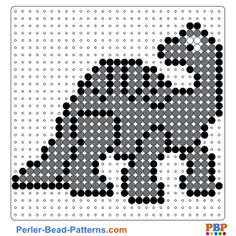 Dinosaurs perler bead pattern. Download a great collection of free PDF templates for your perler beads at perler-bead-patterns.com