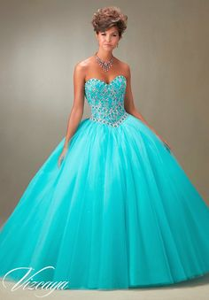 Mori Lee Vizcaya Quinceanera Dress Style 89076 is made for girls who want to look like a beautiful Princess on her Sweet 15. Made out of tulle, this ballgown features a strapless sweetheart bodice tha