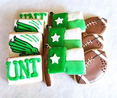 University of North Texas Football Sugar Cookies  1 by MerciBakery