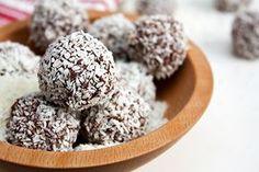 Coconut Chocolate Energy Truffle Recipe - via @DailyBurn