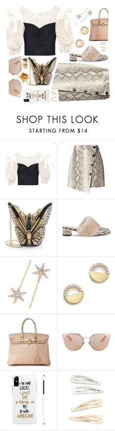 """""""#PolyPresents: Wish List"""" by sunnydays4everkh ❤ liked on Polyvore featuring Rebecca Taylor, Banana Republic, Judith Leiber, Gucci, Jennifer Behr, Bloomingdale's, Hermès, Christian Dior, Kitsch and contestentry"""