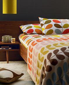 Orla Kiely Stem print bedding.  Love it.