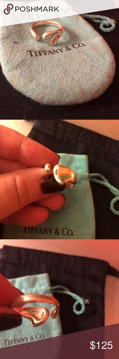 Tiffany & co heart ring. Elsa peretti heart ring. Size 7. Excellent condition. Vintage Tiffany & Co. Jewelry Rings