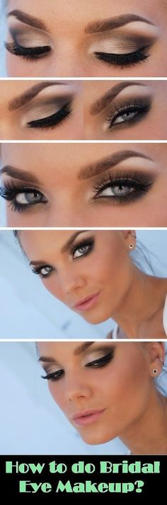 How to do bridal eye makeup ? Please visit our website @