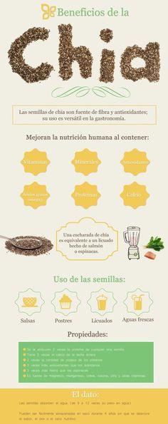 ¿Conoces las propiedades de la chía? Nosotros te decimos por qué es tan buena en tu alimentación!