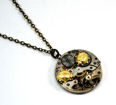 64b46958f9e6 Steampunk Ladybug Necklace Ladybird Necklace Ladybug by Chanchala Art Deco  Watch, Steampunk Design, Watch