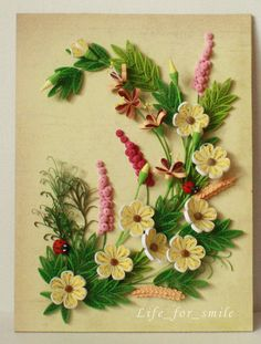 Harvest Time ?! Exuberance in the quilling composition !