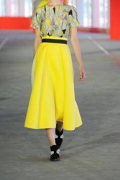 Roksanda Ilincic Stretch-neoprene and wool-crepe midi skirt NET-A-PORTER.COM