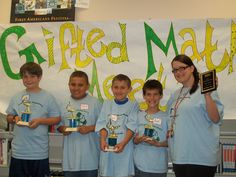 2nd Place Winners of 2012 Gifted Math Meet...first time our team has won in over 12 years! The Interactive SMART board Math games we received from our Donor's Choose project sure helped!