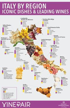 Italy by region: iconic dishes and leading winesYou can find Italian wine and more on our website.Italy by region: iconic dishes and leading wines Guide Vin, Wine Guide, Wein Poster, Barolo Wine, Food Map, Italy Food, Italy Travel Tips, Budget Travel, Italian Language