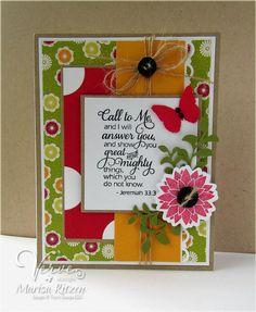 Card by Marisa Ritzen using Scripture Medley 3 from Verve.  #vervestamps