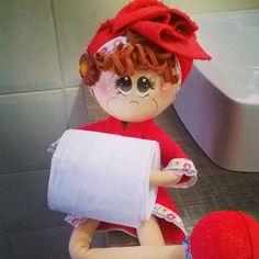Image result for boneca para banheiro em eva