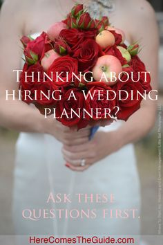 Questions to Ask When Interviewing Potential Wedding Planners with a printable PDF | HereComesTheGuide.com
