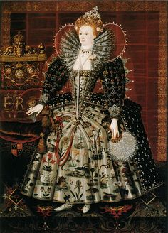 Elizabeth I by an artist from the English School, c.1592. (Hardwick House)