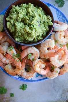 Smoky Shrimp With Guacamole - Sign up for easy, healthy recipes at http://eepurl.com/bgGhFT