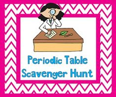 Periodic Table of the Elements Scavenger Hunt Puzzle: Find the ...