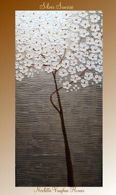 ORIGINAL XLarge gallery wrap canvas   modern mixed media by artmod