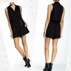 """Black Sleeveless Romper Adorable black Romper.  Perfect condition.  30"""" length with 3"""" inseam.  Made of rayon /polyester. Townsen Other"""