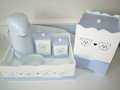 Kit Higiene Azul - Chá de Fofurices