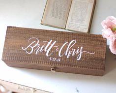 Personalized Wedding Wine Box   Mulberry Market Designs