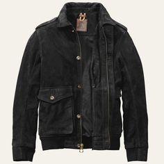 Men's Tenon Leather Bomber Jacket