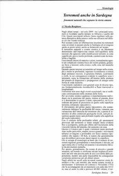 Terremoti anche in Sardegna - fenomeni naturali che segnano la storia umana - evento sismico in Sardegna del 1616 - Nicola Borghero | Nicola Borghero - Academia.edu